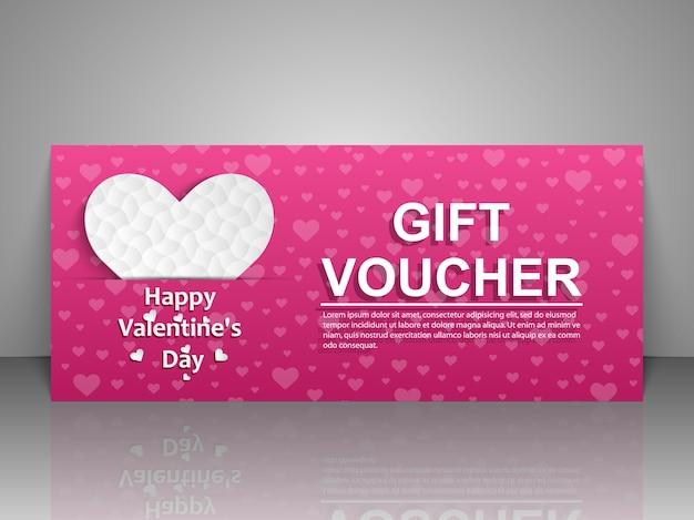 Biglietto di auguri per san valentino isolato su grigio con ombra