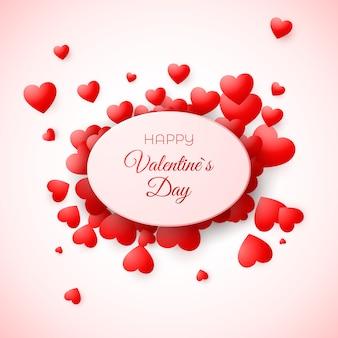 Biglietto di auguri di san valentino. amour e l'amore simboleggiano la vacanza. modello per invito a nozze e altri eventi. illustrazione