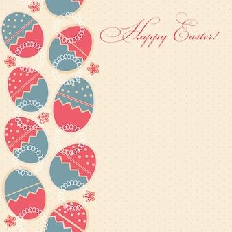 Biglietto di auguri con diverse uova di pasqua