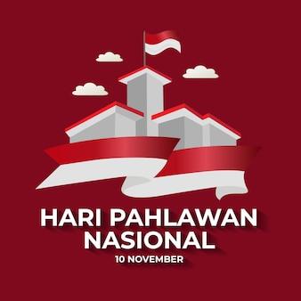 Saluto di hari pahlawan modello nasional design
