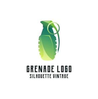 Illustrazione variopinta di gradiente del logo della granata
