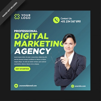 Grey digital marketing social media post instagram