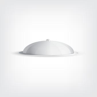 Vassoio grigio, concetto elegante di design grafico