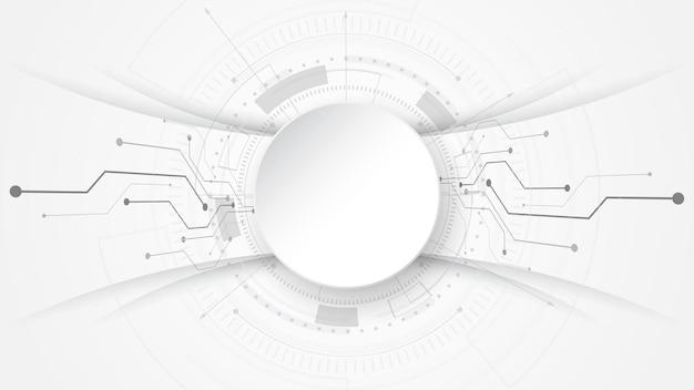 Sfondo grigio bianco astratto tecnologia con vari elementi tecnologici comunicazione hi-tech