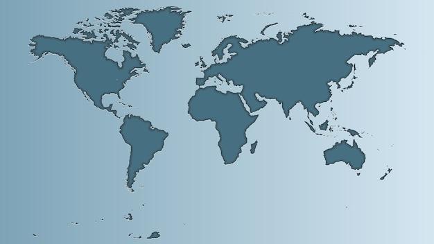 Mappa del mondo grigia