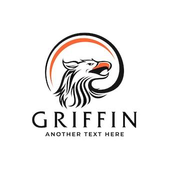 Modello di logo di griffin o eagle