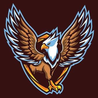 Griffin esport logo illustrazione Vettore Premium