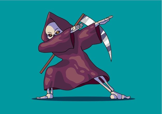 Grim reaper tamponando halloween