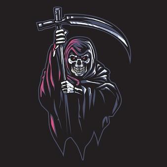Grim reaper esport logo illustrazione
