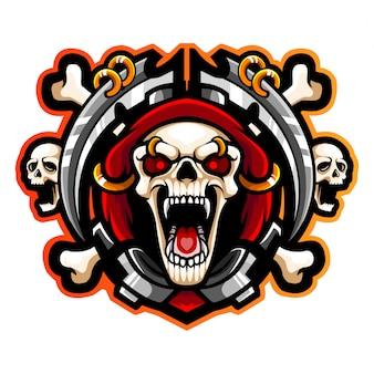 Grim reaper esport logo design mascotte