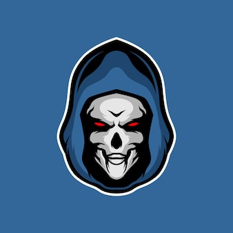 Grim reaper testa mascotte
