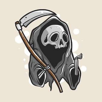 Grim reaper illustrazione