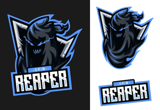 Grim reaper mascot esport logo design