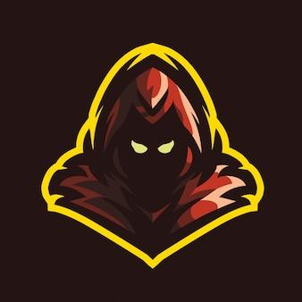 Logo di gioco mascotte grim reaper