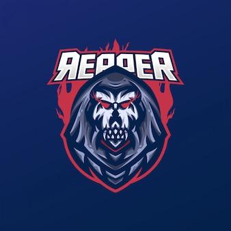 Grim reaper logo della mascotte