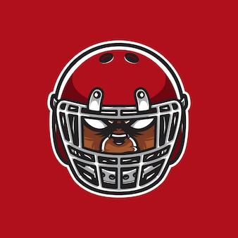 Grizzly logo head football player