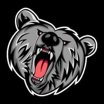 Logo della mascotte grizzly