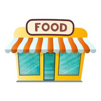 Negozio di alimentari isolato su uno sfondo bianco. illustrazione vettoriale