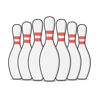 Gruppo di birilli da bowling