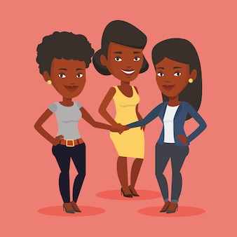 Gruppo di donne d'affari, unendo le mani.