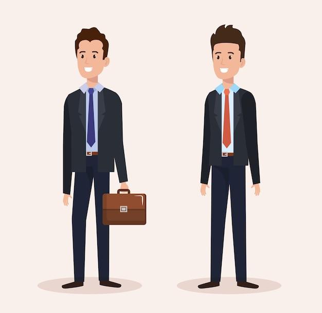 Gruppo uomini d'affari avatar personaggi