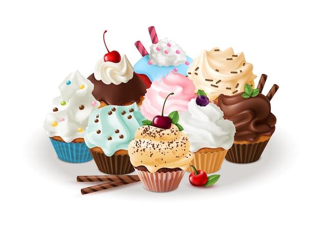 Gruppo di cupcakes