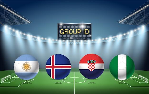 Torneo di calcio del gruppo d russia 2018 (argentina, islanda, croazia, nigeria)