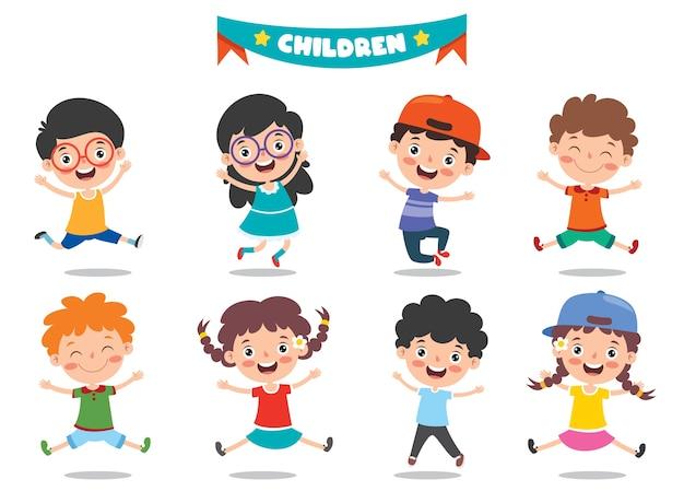 Gruppo di bambini divertenti in posa