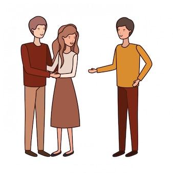 Gruppo di persone avatar personaggio