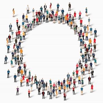 Gruppo di persone forma cerchio