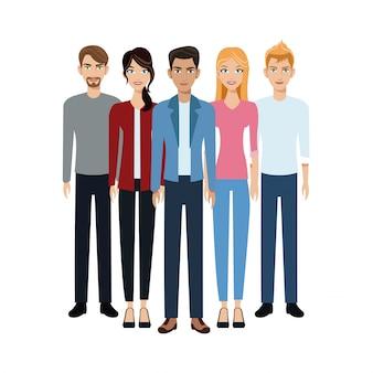 Gruppo di persone unità di gruppo