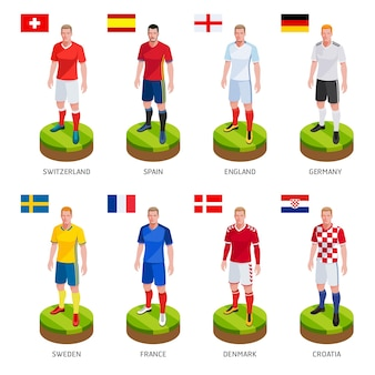 Gruppo di calcio giocatore di football jersey nazionale della squadra del mondo