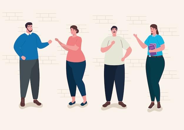 Gruppo di personaggi avatar insegnanti