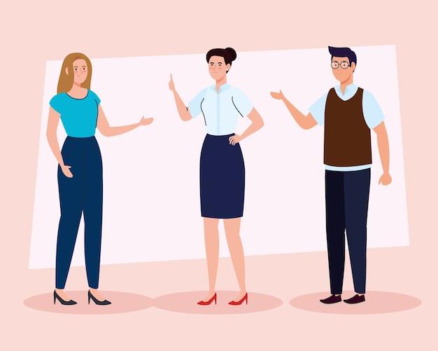 Gruppo di insegnanti riuniti, concetto di educazione