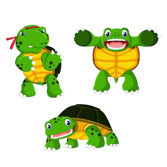Un gruppo di cartoni animati di tartaruga