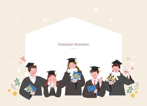 Un gruppo di laureati