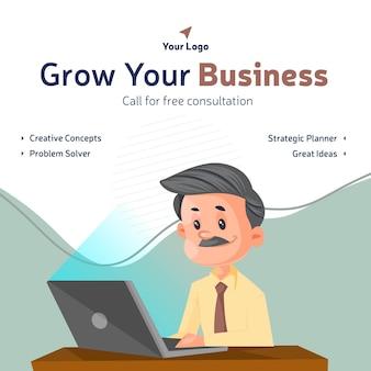 Fai crescere la tua attività con il design di banner di idee creative