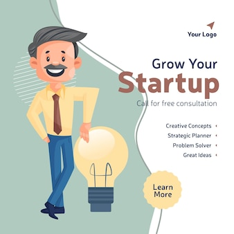 Fai crescere il design del tuo banner aziendale di avvio