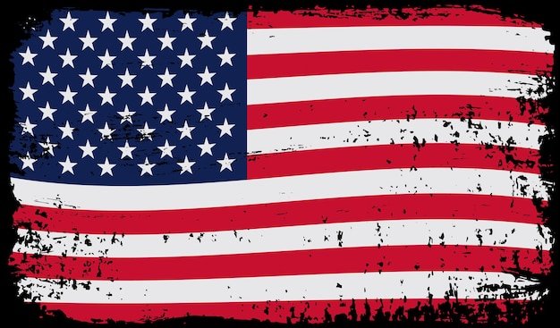 Bandiera americana del grunge