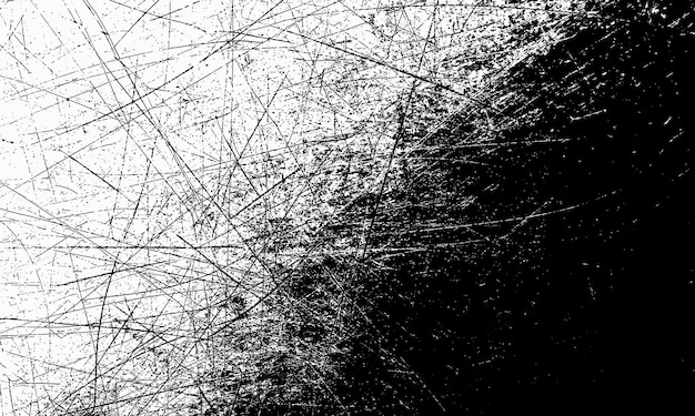 Sfondo bianco e nero grunge con graffi