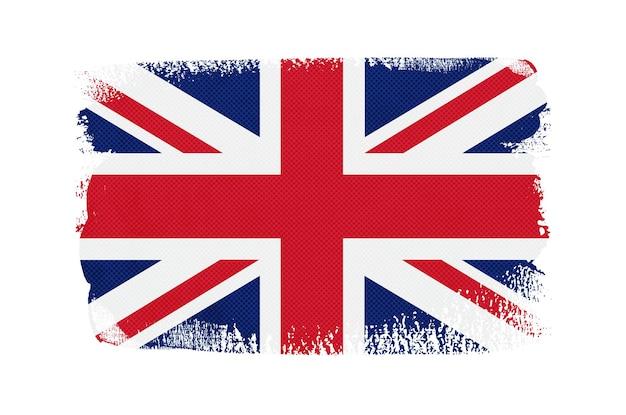 Bandiera del regno unito tratto pennello grunge