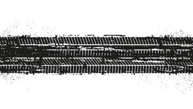 Tracce di pneumatici sporchi di lerciume