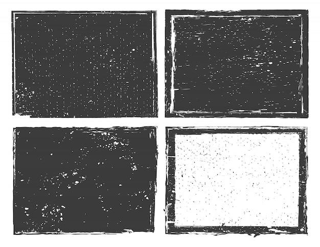Set di cornici o sfondo grunge in difficoltà
