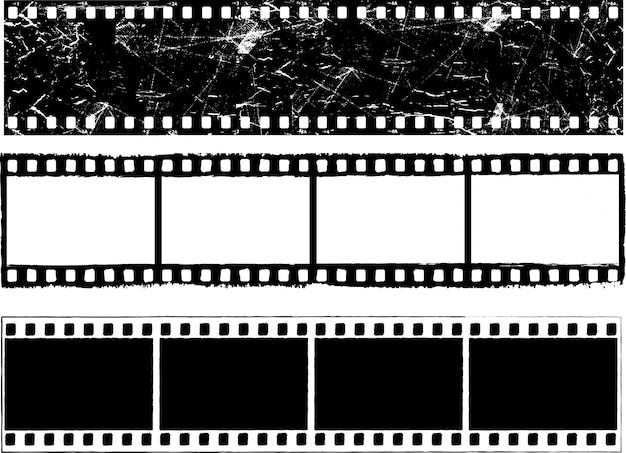 Strisce di pellicola grunge