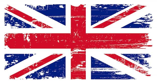 Bandiera del grunge del regno unito