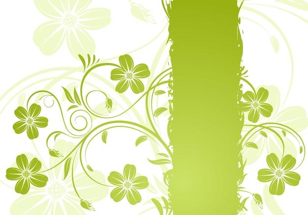 Cornice floreale grunge, elemento di design, illustrazione vettoriale
