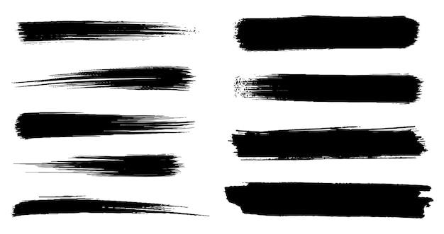 Set di tratti di inchiostro di vernice grunge