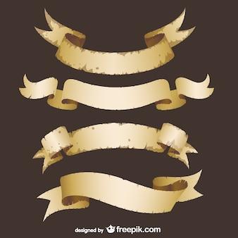 Grunge ribbons vettore