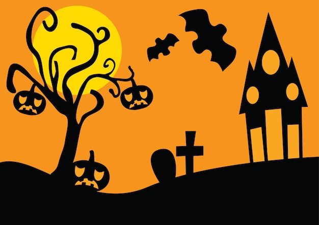 Sfondo di halloween in stile grunge con pipistrelli jack o lantern e gufo