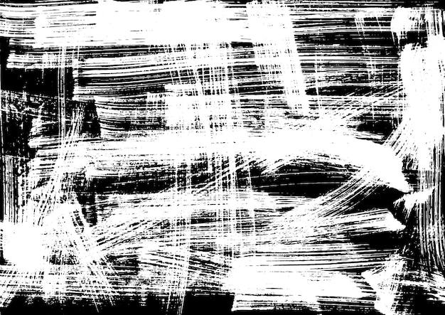 Grunge texture inchiostro bianco e nero su carta pennello a mano vintage